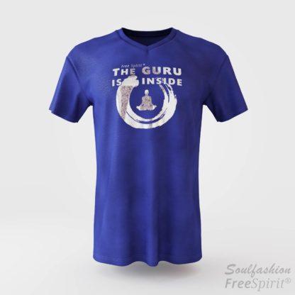The guru is inside - Soulfashion - Free Spirit - Shirt - Herren - Silber - Denim