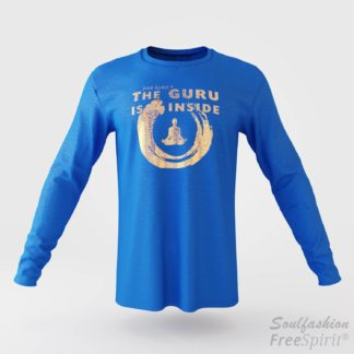 The guru is inside - Soulfashion - Free Spirit - Longsleeve-Shirt - Herren - Gold - Tropical Blue