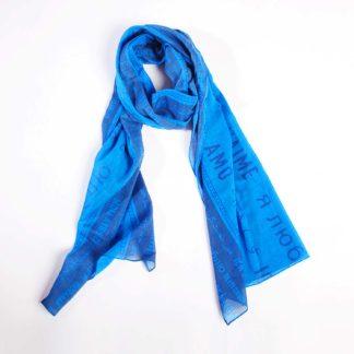 Schal Straight Blau