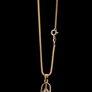 Silberkette Fuchsschwanz vergoldet