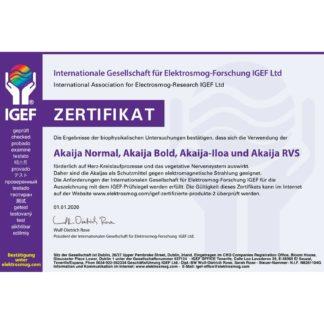 IGEF Certificaat Akaija 2020 DE